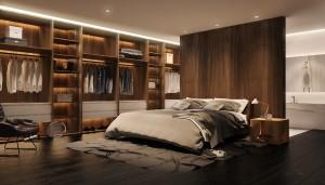 Chambre avec dressin