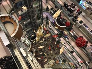 Centre commercial décoration de Noël